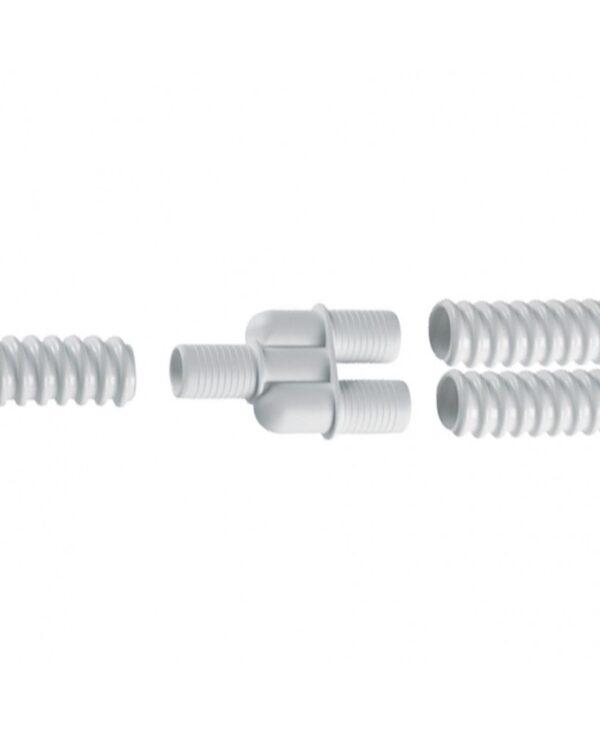 3 weg koppelstuk Pvc condenswater afvoer slang spiraalbuis 16 mm