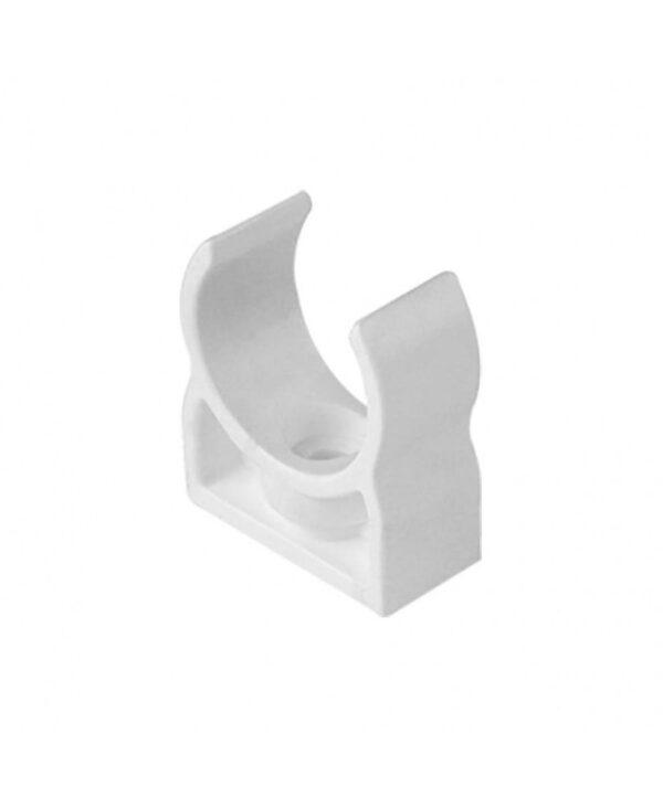 Bevestiging clips voor Pvc buis wit 20 mm