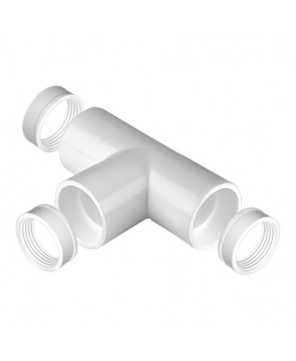 T-stuk voor Pvc buis wit 20 mm