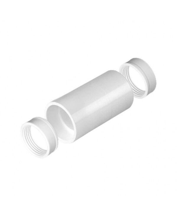 Verleng mof voor Pvc buis wit 20 mm.