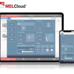 Mitsubishi MELCloud op tablet en mobiel