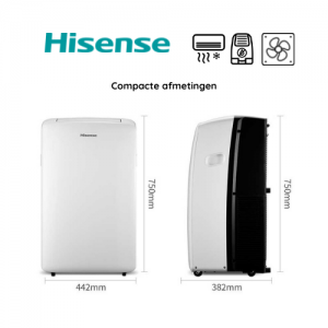 Hisense APH - mobiele airconditioner - compacte afmetingen