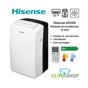 Hisense APH09 mobiele airco (3 kW)