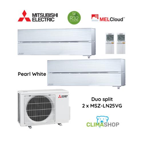 Duo split MSZ-LN serie [Pearl White] 2 x 2,5 kW