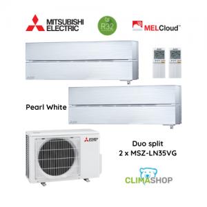 Duo split MSZ-LN serie [Pearl White] 2 x 3,5 kW