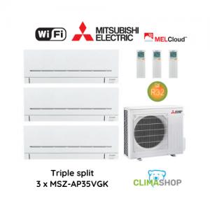 Mitsubishi Electric TRIPLE SPLIT – MSZ-AP (3 x 3,5 kW)