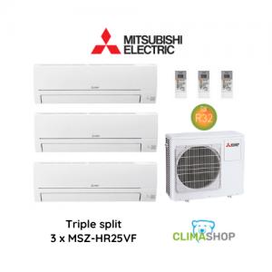 Mitsubishi Electric TRIPLE SPLIT – MSZ-HR (3 x 2,5 kW)