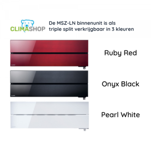 MSZ-LN serie (Diamond wandunits) in 3 kleuren [TRIPLE SPLIT]