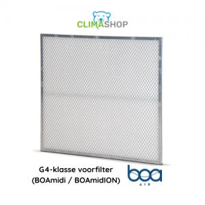 G4-klasse voorfilter (BOAmidi en BOAmidION)